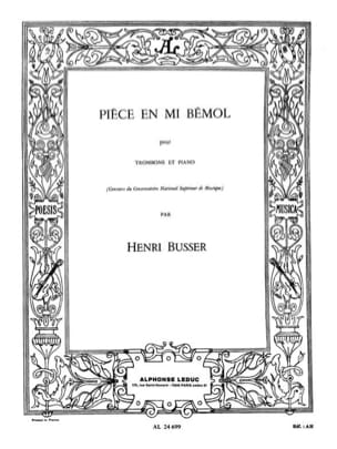 Henri Busser - Eb Coin Opus 33 - Sheet Music - di-arezzo.co.uk