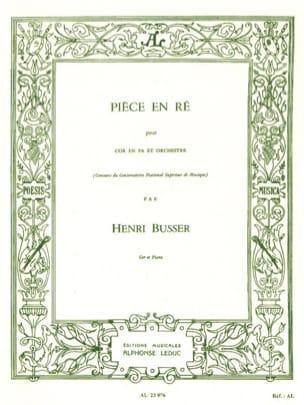 Henri Busser - Pièce En Ré - Partition - di-arezzo.fr