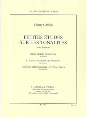 Thierry Caens - Small studies on tones - Sheet Music - di-arezzo.com
