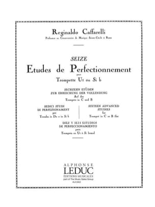 Reginaldo Caffarelli - 16 Etudes de perfectionnement - Partition - di-arezzo.fr