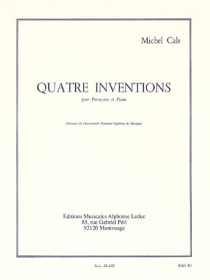 Michel Cals - 4 Inventions - Sheet Music - di-arezzo.com