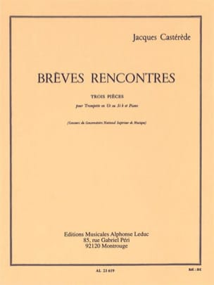 Jacques Castérède - Short Meetings - Three Pieces - Sheet Music - di-arezzo.co.uk