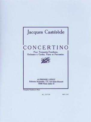 Jacques Castérède - Concertino - Sheet Music - di-arezzo.co.uk