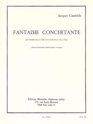 Jacques Castérède - Fantaisie Concertante - Partition - di-arezzo.fr