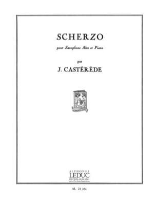 Scherzo Jacques Castérède Partition Saxophone - laflutedepan