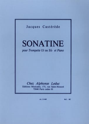 Jacques Castérède - Sonatine - Partitura - di-arezzo.it