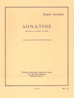 Jacques Castérède - Sonatine - Sheet Music - di-arezzo.com