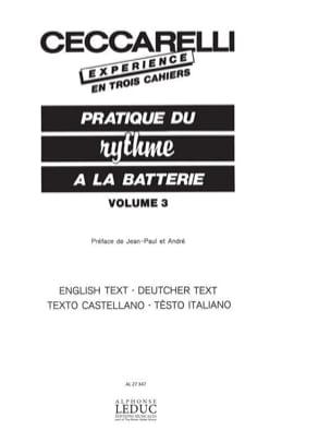 Experience - Pratique du Rythme A la Batterie Volume 3 laflutedepan