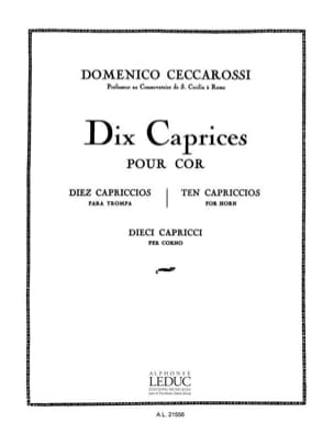10 Caprices Domenico Ceccarossi Partition Cor - laflutedepan