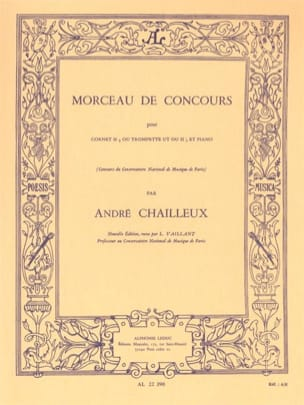 André Chailleux - Morceau de Concours - Partition - di-arezzo.fr