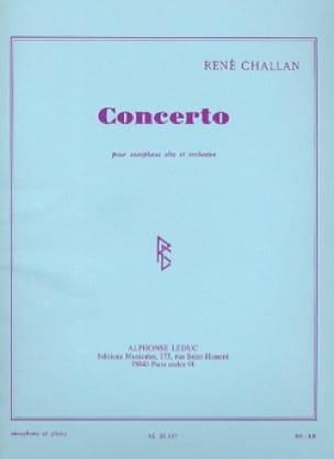 Concerto - Challan - Partition - Saxophone - laflutedepan.com