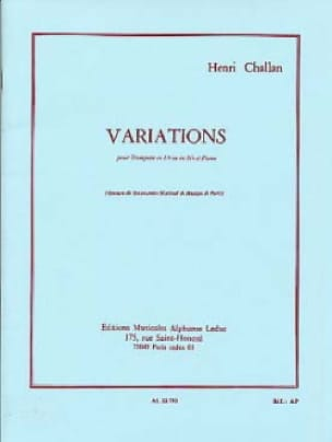 Henri Challan - variations - Sheet Music - di-arezzo.com