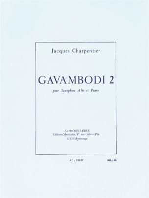 Gavambodi 2 J. Charpentier Partition Saxophone - laflutedepan