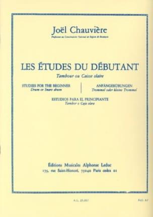 Joël Chauvière - Estudios para principiantes - Partitura - di-arezzo.es
