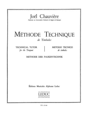 Chauvière - Technical method of timbales - Sheet Music - di-arezzo.co.uk