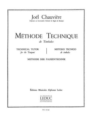 Chauvière - Méthode technique de Timbales - Partition - di-arezzo.fr