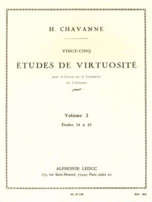 H. Chavanne - 25 Etudes de Virtuosité Volume 2 - Etudes 14 à 25 - Partition - di-arezzo.fr