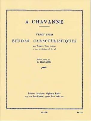 25 Etudes Caractéristiques Chavanne Partition Trompette - laflutedepan