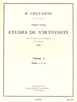 Chavanne - 25 Virtuosity Studies Volume 1 - Studies 1 to 13 - Sheet Music - di-arezzo.co.uk