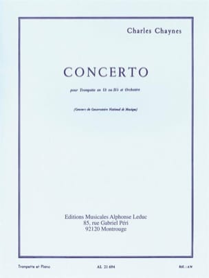 Charles Chaynes - Concerto - Sheet Music - di-arezzo.co.uk