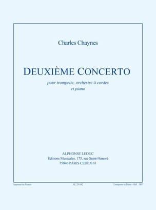 Deuxième Concerto Charles Chaynes Partition Trompette - laflutedepan