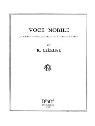 Voce Nobile Robert Clérisse Partition Tuba - laflutedepan
