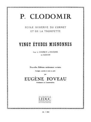 Pierre-François Clodomir - 20 Cute Studies - Sheet Music - di-arezzo.co.uk