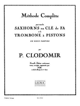 Pierre-François Clodomir - Method Saxhorns Key of Fa Volume 1 - Sheet Music - di-arezzo.com