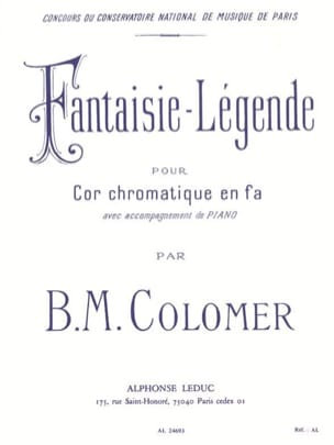 Fantaisie Légende B.M. Colomer Partition Cor - laflutedepan