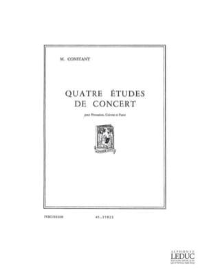 Marius Constant - 4 Etudes de Concert - Parties - Partition - di-arezzo.fr