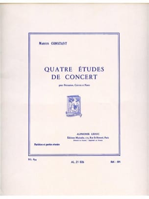 Marius Constant - 4 Concert Studies - Conductor and Parties - Sheet Music - di-arezzo.co.uk