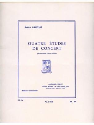 Marius Constant - 4 Etudes de Concert - Conducteur et Parties - Partition - di-arezzo.fr