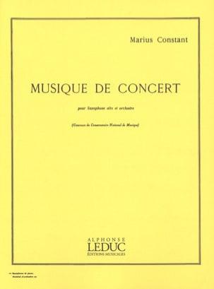 Musique de Concert Marius Constant Partition Saxophone - laflutedepan