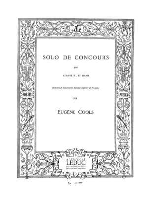Eugène Cools - Solo de Concours - Partition - di-arezzo.fr