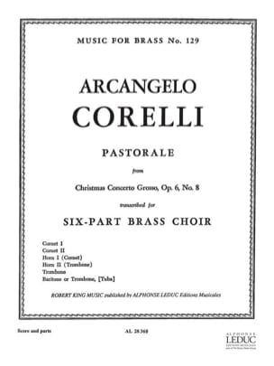 Pastorale From Cto Grosso Opus 6 N° 8 CORELLI Partition laflutedepan