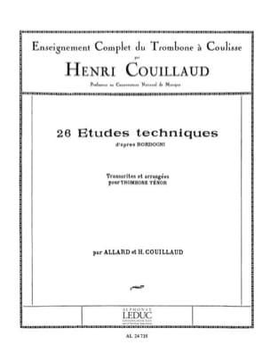 Henri Couillaud - 26 Technical Studies After Bordogni - Sheet Music - di-arezzo.co.uk