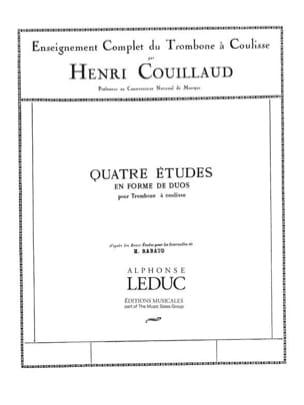 Henri Couillaud - 4 Etudes en forme de duos - Partition - di-arezzo.fr