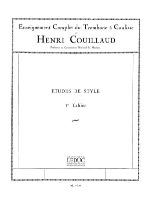 Henri Couillaud - Volume 1 style studies - Sheet Music - di-arezzo.co.uk