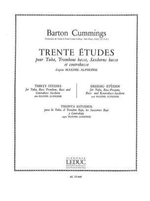30 Etudes - Cummings - Partition - Tuba - laflutedepan.com