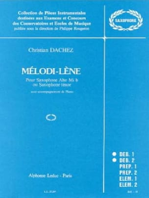 Dachez - Mélodi-Lène - Partition - di-arezzo.fr