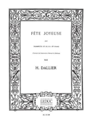 Fête Joyeuse H. Dallier Partition Trompette - laflutedepan