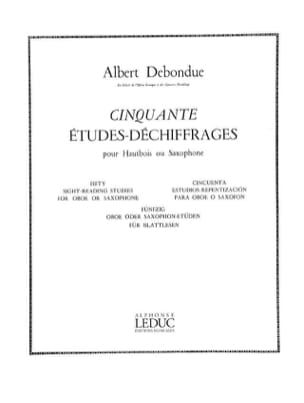 Albert Debondue - 50 Etudes-Déchiffrages - Partition - di-arezzo.fr