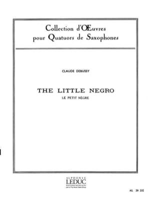 Le Petit Nègre DEBUSSY Partition Saxophone - laflutedepan
