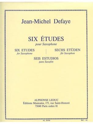 Jean-Michel Defaye - Six Etudes - Partition - di-arezzo.fr
