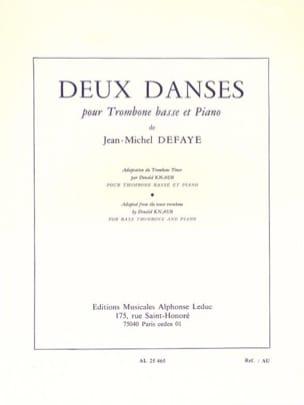 Jean-Michel Defaye - Deux Danses - Partition - di-arezzo.fr