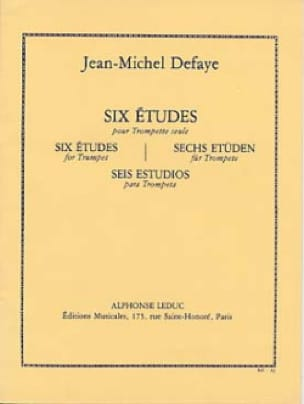 Jean-Michel Defaye - 6 Studies For Trumpet Only - Sheet Music - di-arezzo.com