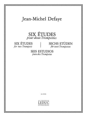 Jean-Michel Defaye - 6 Studies - Sheet Music - di-arezzo.co.uk