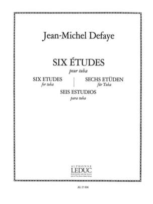 Jean-Michel Defaye - 6 Studies for Tuba - Sheet Music - di-arezzo.co.uk