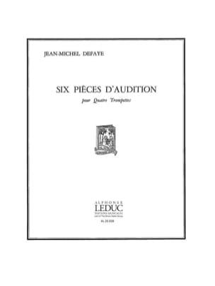 6 Pièces D'audition - Score - Jean-Michel Defaye - laflutedepan.com