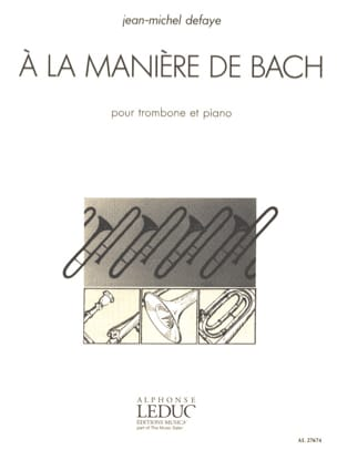 Jean-Michel Defaye - In the way of Bach - Sheet Music - di-arezzo.co.uk